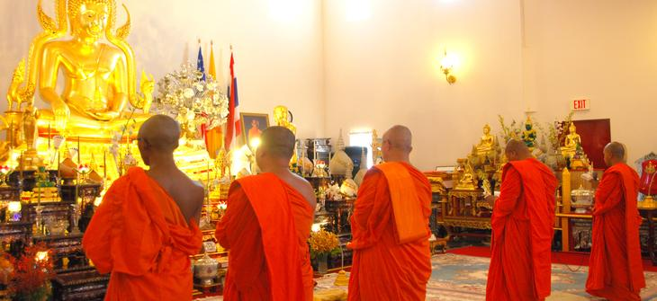 There are several monks reside at Wat Buddharangsri. The number of monks are depend on the events or activities of Buddhism and Thai culture ceremony. Occasionally, monks are invited to do the blessing outside their temple some time at residential home or business.