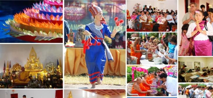 Each year at Wat Buddharangsri  has provided many events including religious and cultural heritage of Thailand.The event was held with cooperation from Committee of the temple, Thai-American Association, as well as all volunteers to disseminate knowledge of Thai culture and custom.