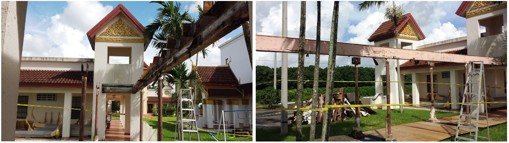 Walk way, Poles and Roof Repair
